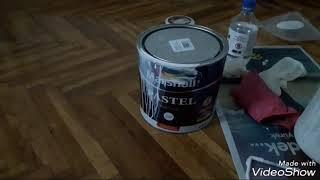 laminant parke boyama işlemi