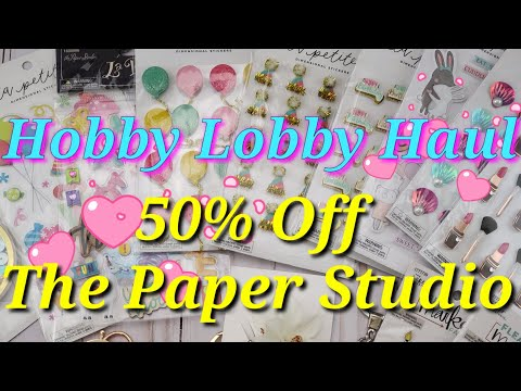 Hobby Lobby 50% off ALL The Paper Studio brand