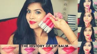 The history of lip balm or chapstick . (English)