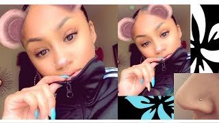 How To: Make A Fake Nose Piercing | Blasianbabylola
