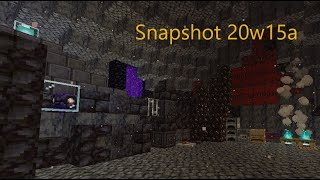 Snapshot 20w15a Nether Update 1.16 - BASALT DELTAS, BLACKSTONE NEW Biome and Blocks!