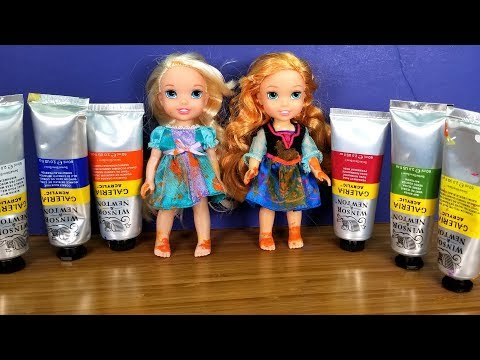 Painting project ! Elsa and Anna toddlers