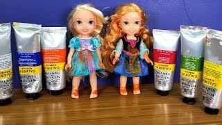 Download Painting project ! Elsa and Anna toddlers Mp3 and Videos