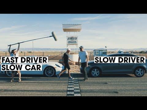 Porsche 911 vs. VW Jetta | Fast Driver vs. Slow Driver | Donut Media
