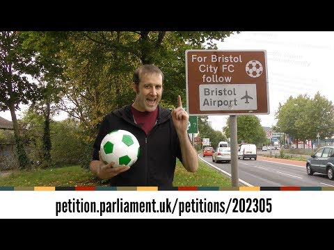 All UK football road signs are wrong! Join the petition for geometric change!