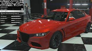 GTA 5 - DLC Vehicle Customization - Lampadati Komoda (Alfa Romeo Giulia) and Review