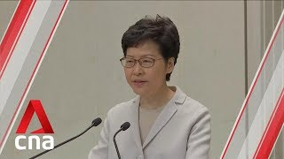 Hong Kong vote revealed 'unhappiness' with government, says city's Chief Executive Carrie Lam