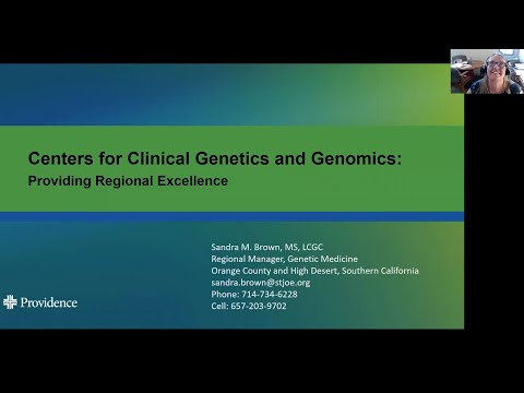 Delivering Clinical Genetics and Genomics Services to our Patients for Precision Wellness