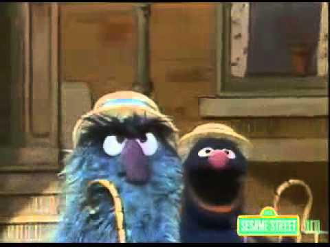 sesame street fuzzy and blue and orange