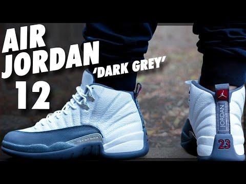 Air Jordan 12 White/ Dark Grey