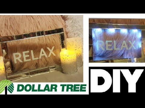 🌟DIY RELAX MIRROR🌙 DOLLAR TREE 💲HOME DECOR