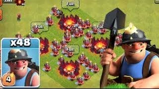 Clash Of Clans NEW MINER TROOP EXTREME ATTACK STYLE IT'S WORK