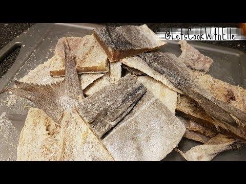 How To Descale & Desalt Salt Fish/ Congolese Food