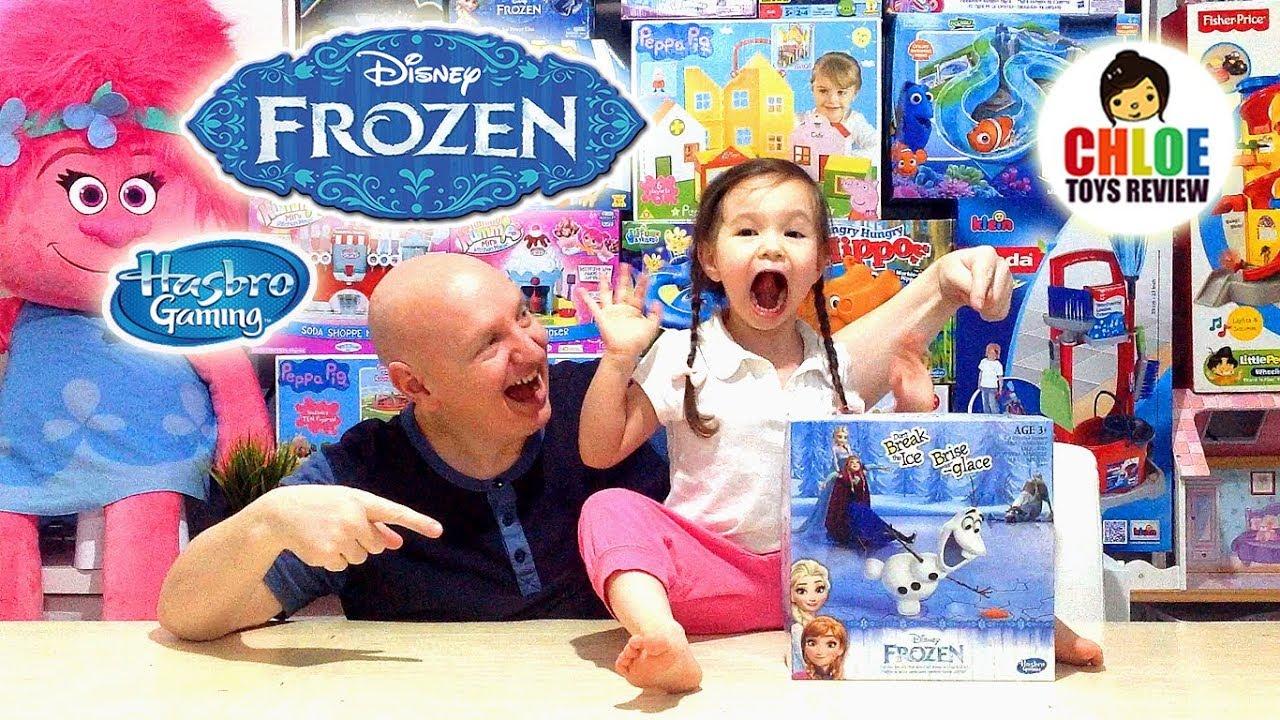 DON\'T BREAK THE ICE CHALLENGE DISNEY FROZEN HASBRO ❤ Family Fun ...