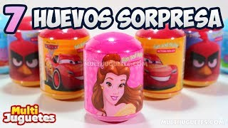 7 Huevos Sorpresa de Princess, Peppa Pig, Cars y Angry Birds