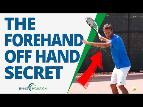TENNIS FOREHAND TECHNIQUE   What To Do With Your Off Hand On The Forehand