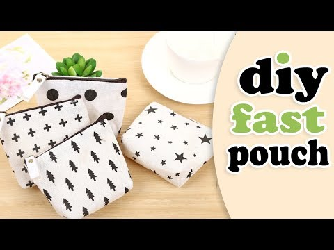 DIY POUCH BAG // Zipper Mini Wallet Purse Tutorial