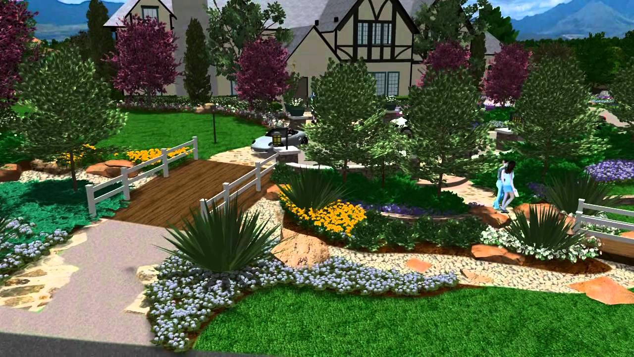 3D Landscape Design - Virtual Presentation Studio Presents Garden View Landscape - YouTube