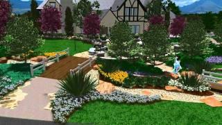 3d Landscape Design - Virtual Presentation Studio Presents Garden View Landscape
