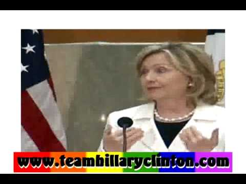 """SECY OF STATE HILLARY CLINTON - """"  GAY RIGHTS ARE HUMAN RIGHTS - ONCE AND FOR ALL """""""
