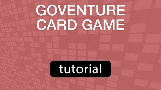 GoVenture Card Game - HOW TO PLAY 201805