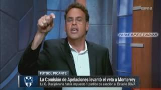 Le quitan el castigo de veto al estadio de Rayados de Monterrey - Futbol Picante