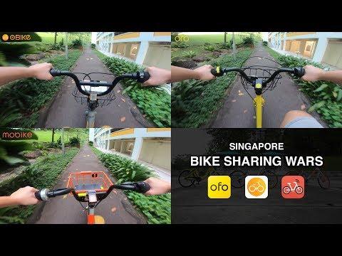 Singapore Bike Sharing Wars oBike vs oFo vs mobike