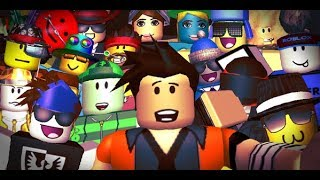 PLAYING TO BE YOUTUBERS ROBLOX