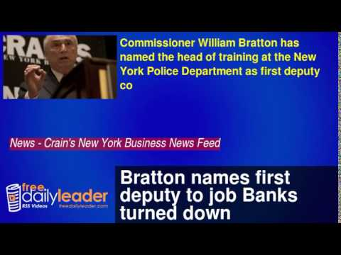 Bratton names first deputy to job Banks turned down