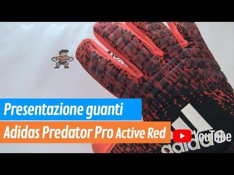 buy popular a0ff9 3396f Guanti portiere Adidas Predator Pro Active Red