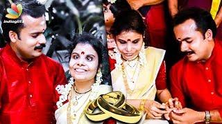 Singer Vaikom Vijayalakshmi gets Engaged to Mimicry Artist Anoop | Hot Cinema News