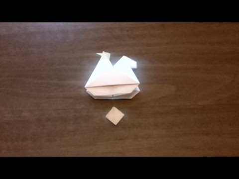 How to make an Origami Egg-Laying Hen (Kirigami) ...for all (67)
