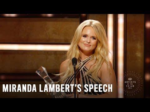 Miranda Lambert | 2018 CMT Artists of the Year Acceptance Speech