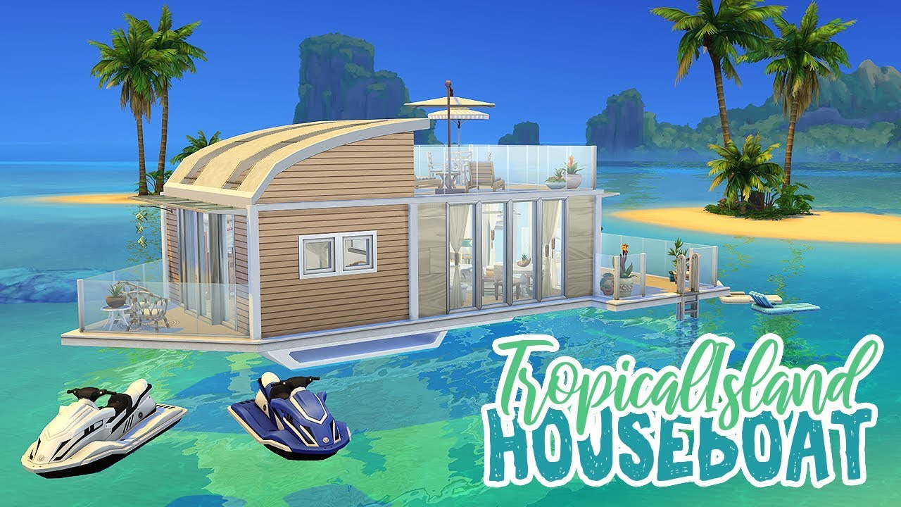 Tropical Island House Boat 🌺 || The Sims 4 Tropical Living ...