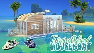 Tropical Island House Boat 🌺 || The Sims 4 Tropical Living: Speed Build