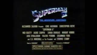 Superman II 1981 TV trailer