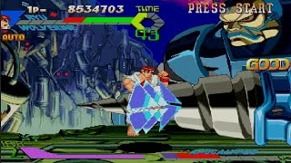 X-Men vs. Street Fighter Gameplay Battle Mode (PS1,PSX)