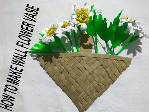 HOW TO MAKE WALL FLOWER VASE |ALL ART AND CRAFT WITH WASTE PAPER