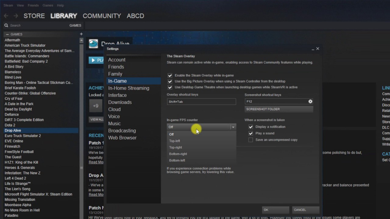 How To Enable FPS Counter in Steam Games in 2019 - YouTube