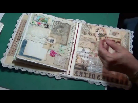 Mixed Media Fabric, Lace & Paper Journal Part #3 (Midori style Cover)