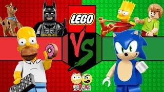 LEGO Batalha de Hérois - Equipe Homer VS Equipe Sonic (Lego Dimensions) #29