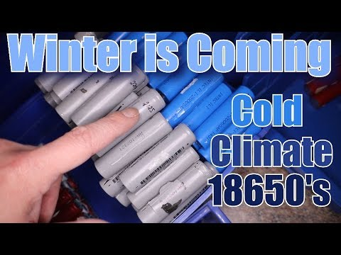 😱🔋Harvesting 18650's for Cold Climate Winter Test OUTSIDE!!!🔋😱