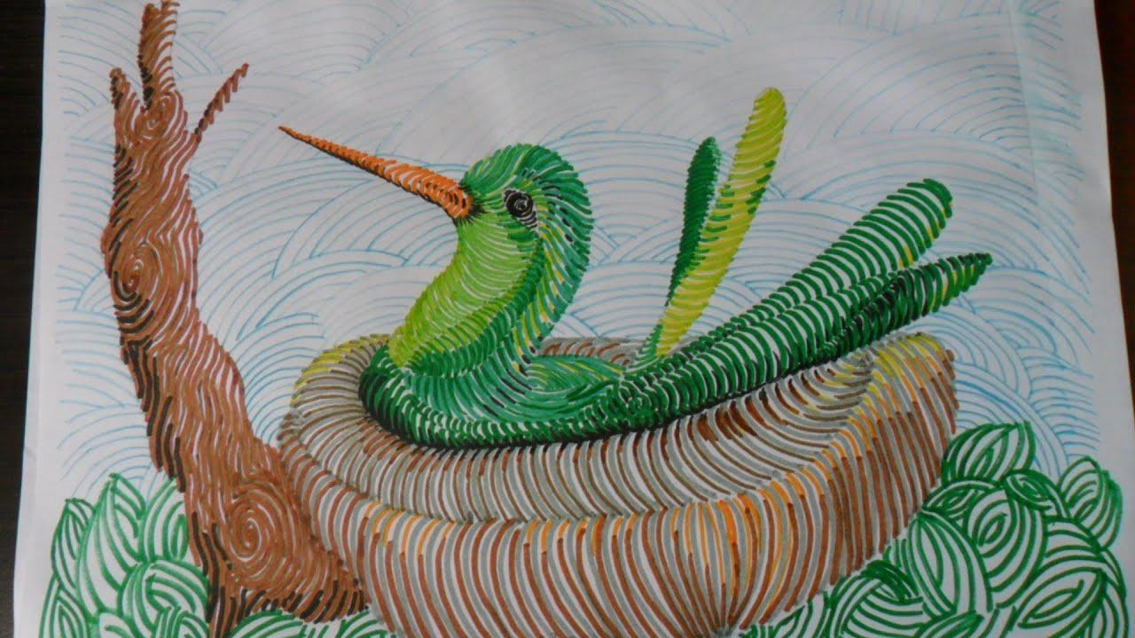 Dibujo De Lineas Paisaje: COMPLEMENTO DE LA LECCIÓN Nº 2 (2 / 3).DIBUJO DE UN AVE EN