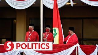 Second Day Of Umno General Assembly Kicks Off With Raising Of 'Sang Saka Bangsa'