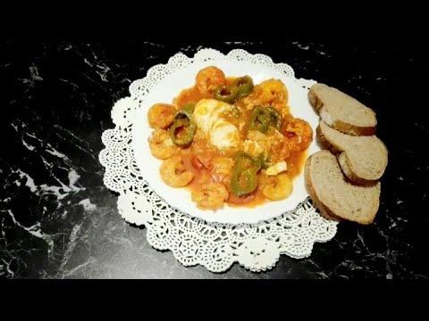 ﺷﻜﺸﻮﻛﺔ-ﺗﻮﻧﺴﻴﺔ-ojja-/chakchouka-/3ejja-aux-crevettes/3eja-(-la-cuisine-tunisienne-/-tunisian-food-)