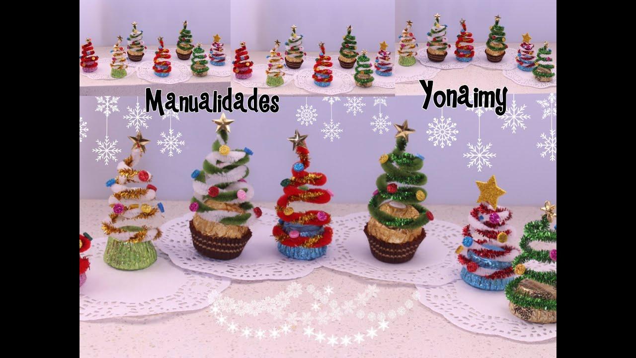Arbolitos navide os hechos con limpia pipas y chocolates - Arboles de navidad manualidades navidenas ...