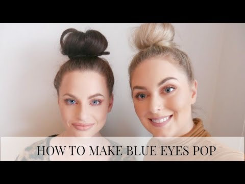 HOW TO MAKE BLUE EYES POP! | Holly Carran