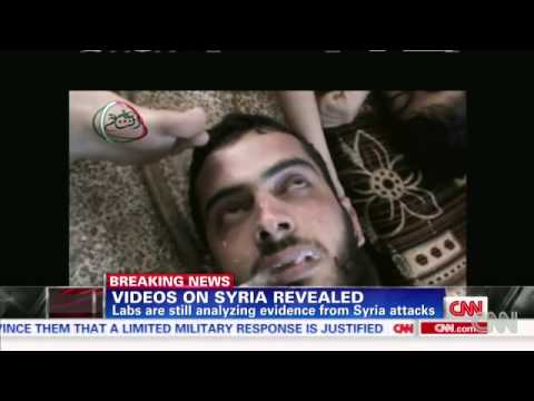 Videos show victims of Syria gas attack