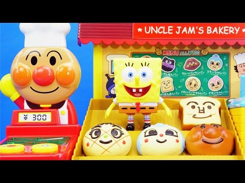 面包超人海綿寶寶買面包過家家玩具