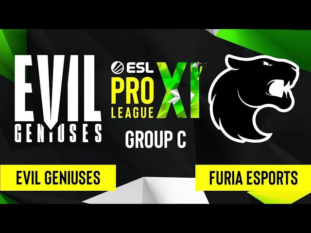 CS:GO - Evil Geniuses vs. FURIA Esports [Mirage] Map 1 - ESL Pro League Season 11 - Group C